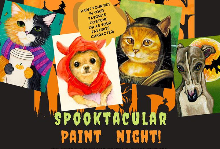 """We Got Chills From """"Spooky Paint Your Pet & Sip!"""""""